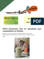 UFCG desenvolve leite de amendoim para comunidades na Paraíba