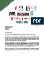 IPGA Letter to President Aliyev on Idrak Abbasov