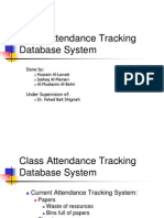 Class Attendance Tracking System