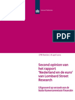 Second opinion rapport 'Nederland en de euro' van Lombard Street Research