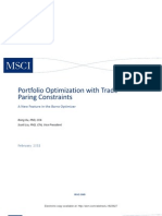!Portfolio Optimization With Trade Paring Constraints
