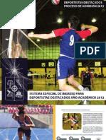 Ingreso Especial Uchile 2012 Deportistas Destacados