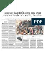 En Lima, Perú toman conciencia sobre el Cambio Climático