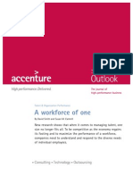 Accenture Outlook Workforce of One Talent Management