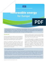 Renewable energy for Europe(Eng)/ Energías renovables para Europa(Ing)/ Energia berriztagarriak Europarentzat(Ing)