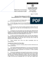 RBI Monetary Policy 17.04.2012