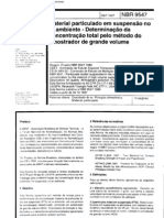 NBR 9547 - 1997 - Material Particulado Em Suspensao No Ar Ambiente - Determ Da Concentracao Total Pelo Metodo Do or de Grande Volume