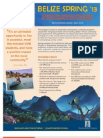 2013 Belize One Sheet