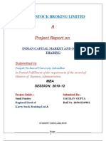 A Project Report on Online Trading Final