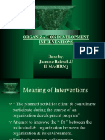 Organisational Development and Intervention