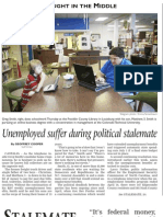 Unemployed suffer during political stalemate