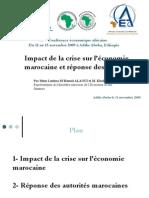 2009 AEC- Impact de la crise sur l'économie marocaine et réponse des autorités
