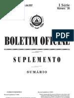 Decreto_ Legislativo nº 2_2007 de 19 de Julho, que estabelece os principios e normas de utilização de solos, tanto pelas entidades públicas como pelas entidades privadas.