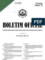 Ressolução_ nº 44_2010 de 9 de Agosto, que cria a Unidade de Coordenação do Cadastro Pedial (UC-CP).