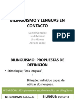 Bilinguismo y Lenguas en Contacto