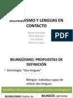 Bilinguismo y Lenguas en Contacto