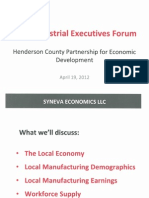 SYNEVA Economics, Industrial Executives Forum 04.19.2012