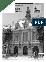 Ley Municipal de Transporte y Tránsito Urbano