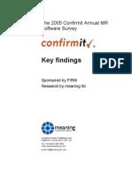 2004 Confirmit Mr Software Survey