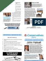 Election Leaflet Dr John Halsall