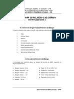 Estrutura Do Relatorio Estagio UFPB