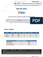 ValuEngine Weekly Newsletter April 20, 2012