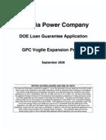 Ga Power Company Application Part 1