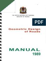 Geometric Design of Roads Manual, Tanzania