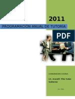 Programacion curricular anual de tutoría