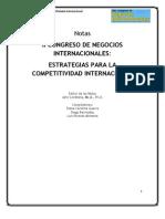 2009 Lombana Notas Congreso de NNII - Estrategias para la Competitividad Internacional
