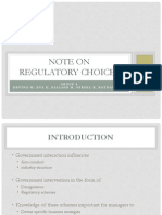 Group 6 Note on Regulatory Choices