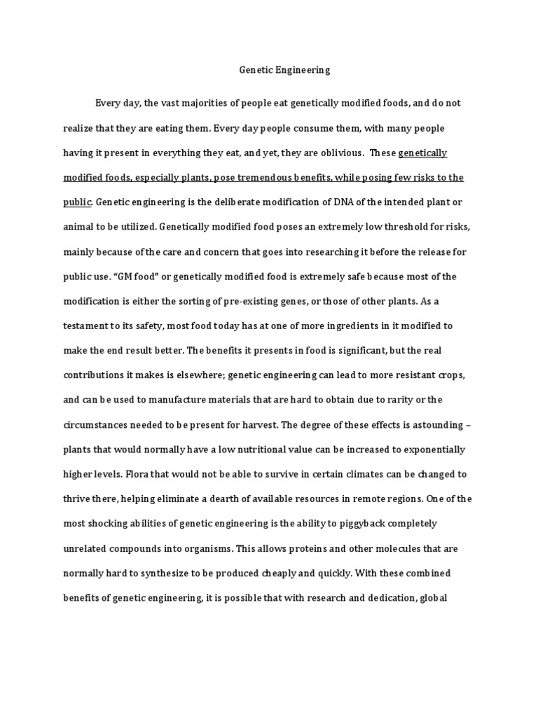 genetically modified foods research paper