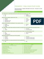 Final Exam Study Guide