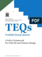 TEQs (Tradable Energy Quotas)