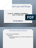 DLD Lecture No 31 Mutiplexers Demultiplxers Combinatinal Implementation Using Multiplexers 10 April 2012_2