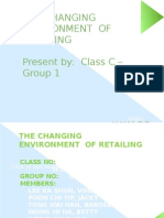 The Changing Environment of Retailing