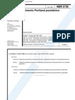 NBR 5736 - Cimento Portland Pozolânico