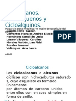 Cicloalcanos Cicloalquenos y Cicloalquinos
