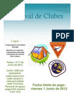 Panfleto Festival de Clubes 2012
