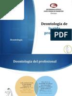 DEontología de la vida profesional
