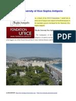 Support the University of Nice Sophia Antipolis