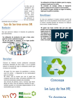 La Ley de Las 3R Reciclar