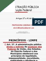 ADMINISTRÇÃO PUB. NA CF