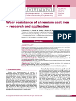 Wear Resistance of Chromium Cast Iron_research and Application
