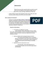 Basics of Database Normaliztion