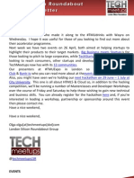 London Silicon Roundabout Weekly Newsletter 20-April-2012