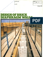 Design of Brick Diaphragm Walls 0290-2