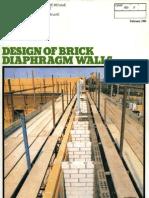 Design of Brick Diaphragm Walls 0290-2