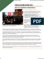20-04-12 Aprueban en reforma política las candidaturas independientes