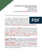 Peticao TST ANULAR Extincao de Processo